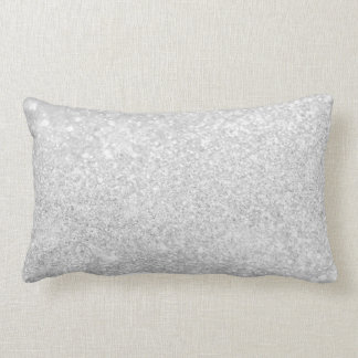 Silver Glitter Sparkley Lumbar Pillow