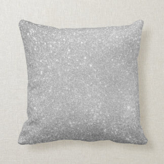 Silver Glitter Style Image Pillow