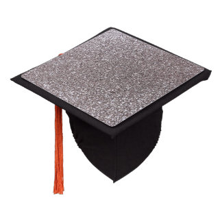 Silver glitter graduation cap topper