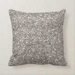 "Silver Glitter Throw Pillow<br><div class=""desc"">This is a throw pillow with a faux,  silver glitter pattern.</div>"