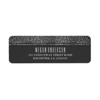 Silver Glitter Vintage Glam Wedding Label