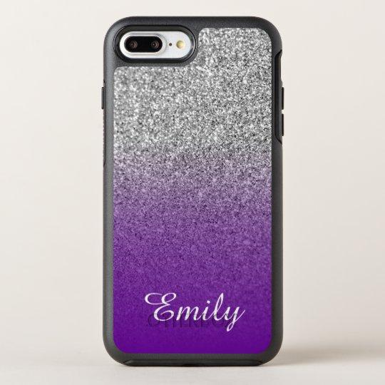 Silver Glitter Violet Purple Ombre Personalized OtterBox iPhone Case ... 6f7a457547