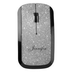 Silver Glitter Wireless Computer Mouse at Zazzle