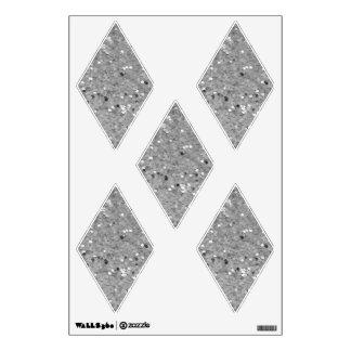 Silver Glittery Look Diamond: Wall Decals