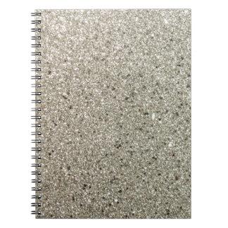 Silver Glittery Paper Notebook