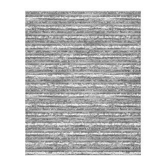Silver Glittery Stripes Canvas Print