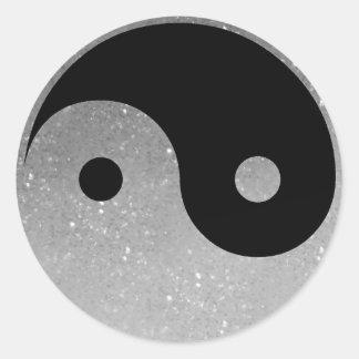 Silver Glitz Look Yin Yang Stickers