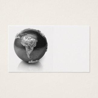 Silver Globe - South America, 3d Render Business Card