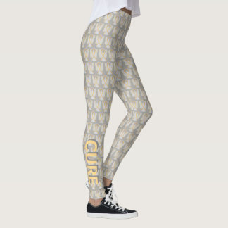 Silver & Gold Awareness Ribbon Angel Pant Leggings