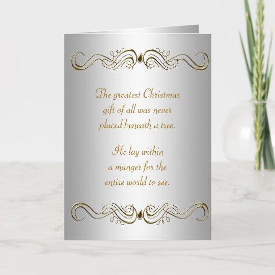 Christian Christmas Cards.Silver Gold Christian Christmas Cards