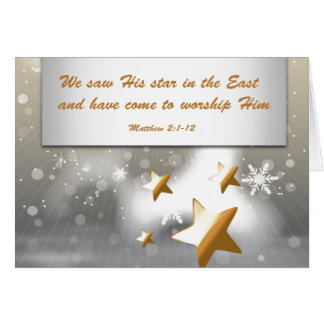 Silver & Gold - Christian Verse/Wrapping Paper Card