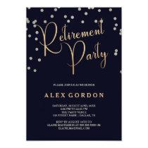 Silver & Gold | Confetti | Retirement Party Invite