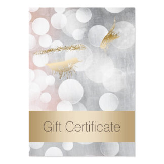 Silver & Gold Eyelash Extensions Gift Certificates Large Business Card
