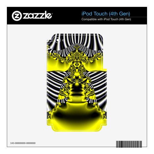 Silver Gold Fractal Alien Goddess iPod Touch 4G Decal