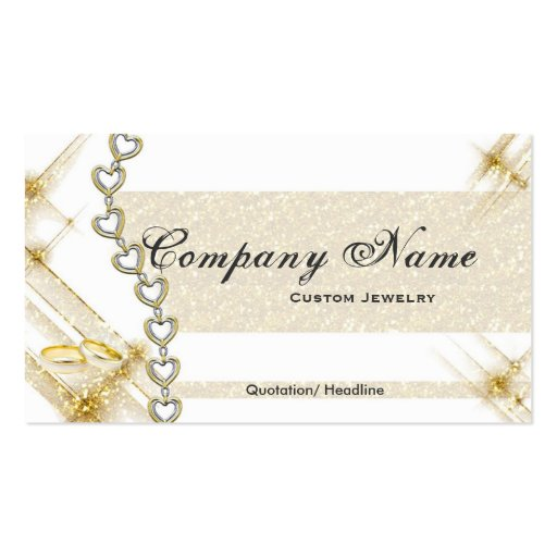 Silver gold jewelry business cards zazzle for Jewelry business card