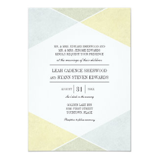 Silver Gold Metal Look Industrial Chic Wedding Card