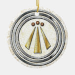 Silver & Gold Neo-Druid symbol of Awen 1 Ornaments