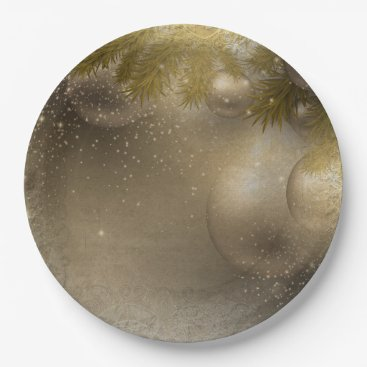 Professional Business Silver gold ornaments paper plate
