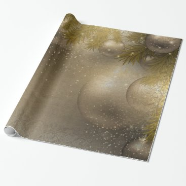 Professional Business Silver gold ornaments wrapping paper