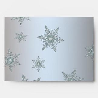 Silver & Gold Snowflake Christmas Envelopes