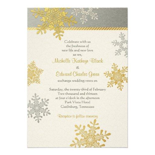 Snowflake Wedding Invites is perfect invitation example
