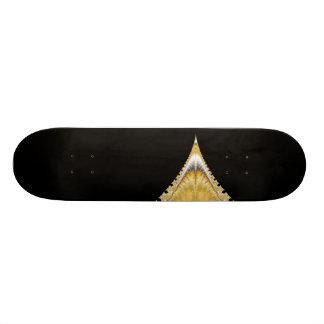 Silver Gold Volcano Skateboard