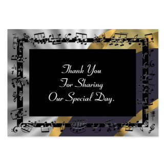 Silver gold wedding favor thank you tag business card templates