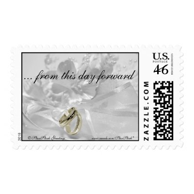 Silver Gold Wedding Theme Postage Stamp by StarStock