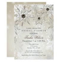 silver Gold Winter Bridal Shower Invite