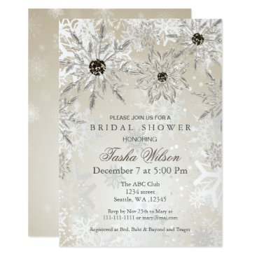 silver Gold Winter Bridal Shower Invite