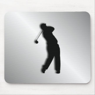Silver Golf Design Mouse Pad