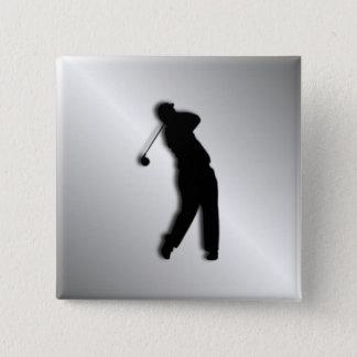 Silver Golf Design Pinback Button