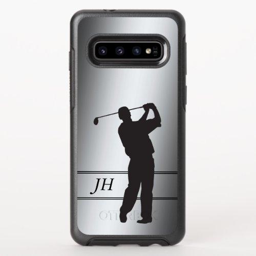 Silver Golfer Monogram Phone Case