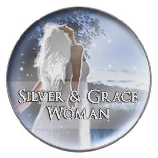 Silver & Grace Women Decorative Plate