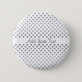 Silver Gradient Polka Dots by Shirley Taylor Pinback Button