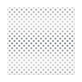 Silver Gradient Polka Dots Canvas Print
