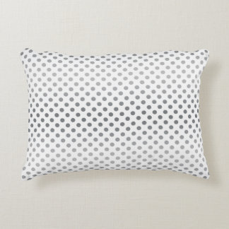 Silver Gradient Polka Dots Accent Pillow