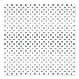 Silver Gradient Polka Dots Photo Print