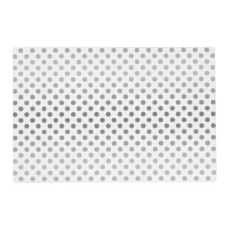 Silver Gradient Polka Dots Placemat