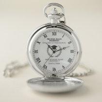 Silver Graduation Commemorative Pocket Watch