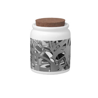 Silver & Gray Abstract Branches Candy Jars