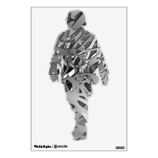 Silver & Gray Abstract Branches Wall Decal