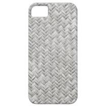 Silver Gray Basket Weave Geometric Pattern iPhone SE/5/5s Case