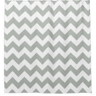Silver Gray Chevron Zigzag Shower Curtains