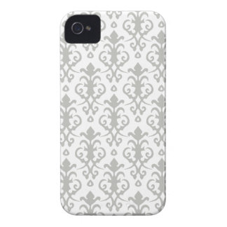 Silver Gray Damask iPhone 4/4S Case iPhone 4 Case-Mate Case