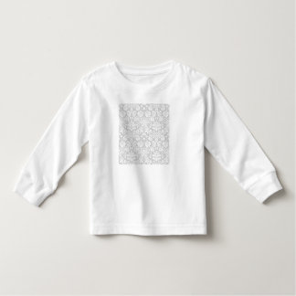Silver gray damask pattern toddler t-shirt