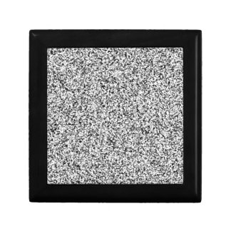Silver Gray Faux Glitter Keepsake Box