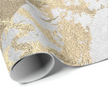 """Silver Gray Foxier Gold Marble Shiny Metallic VIP Wrapping Paper<br><div class=""""desc"""">Minimalism and elegance according to actual interior decor trends.  For Many Luxury Glam Occasions</div>"""