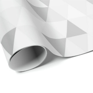 Silver Gray Geometric Diamonds Shape Wrapping Paper