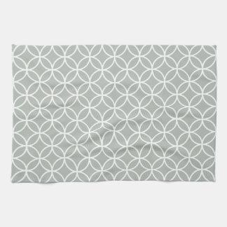 Silver Gray Geometric Kitchen Towels